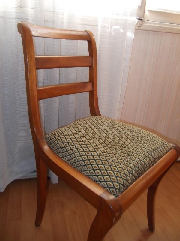 Recyclage, Récupe & Don d'objet : 2 chaises en merisier