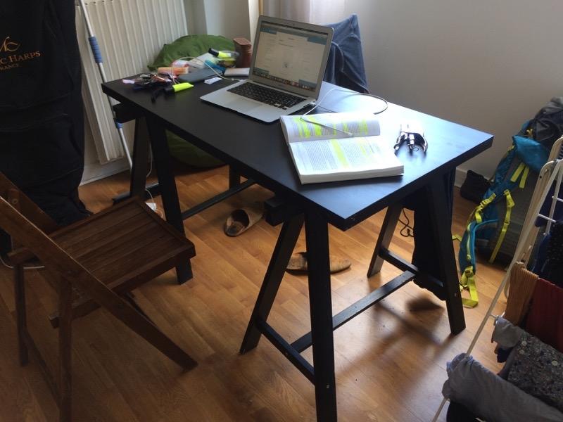 Recyclage, Récupe & Don d'objet : table + ses deux tréteaux