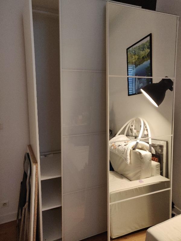 Recyclage, Récupe & Don d'objet : armoire ikea pax annex portes coulissantes verre et miroir