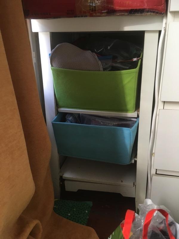 Recyclage, Récupe & Don d'objet : les petits tiroirs en bois blanc