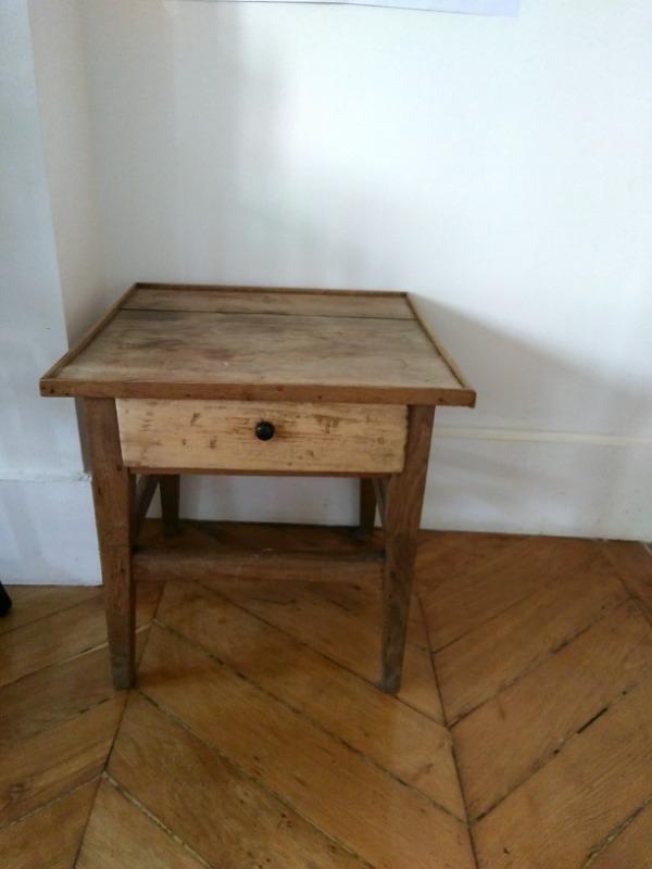 Recyclage, Récupe & Don d'objet : petite table basse en bois