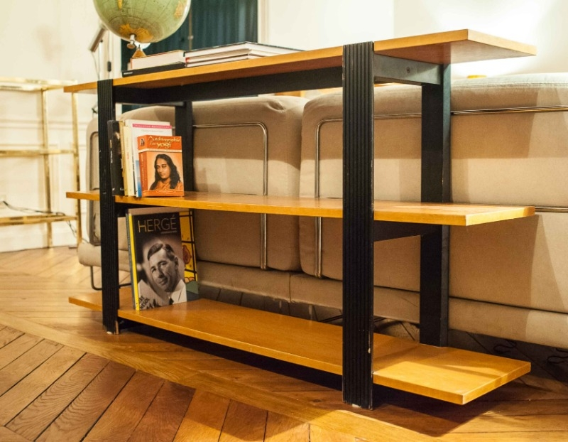 Recyclage, Récupe & Don d'objet : etagère basse en bois