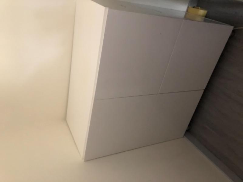 Recyclage, Récupe & Don d'objet : meuble laqué blanc