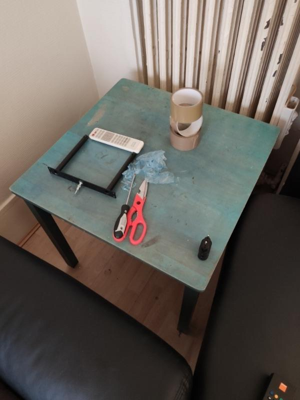 Recyclage, Récupe & Don d'objet : table appoint