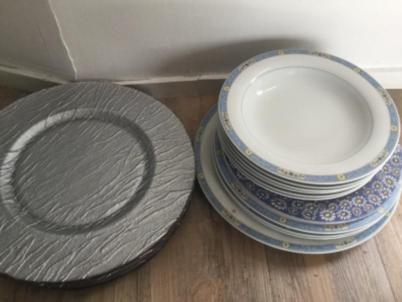 Recyclage, Récupe & Don d'objet : lot assiettes