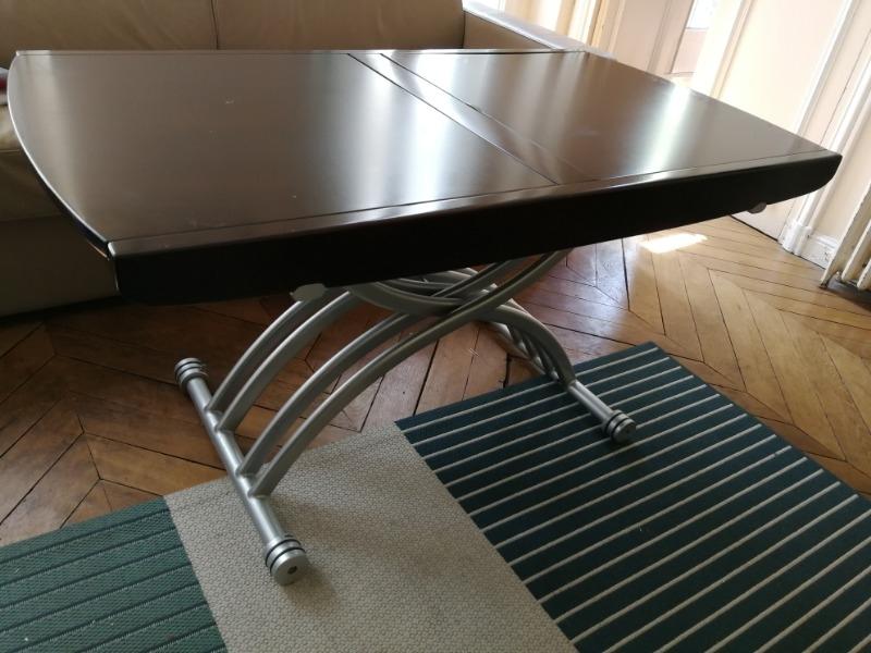 Recyclage, Récupe & Don d'objet : table réglable en hauteur et largeur
