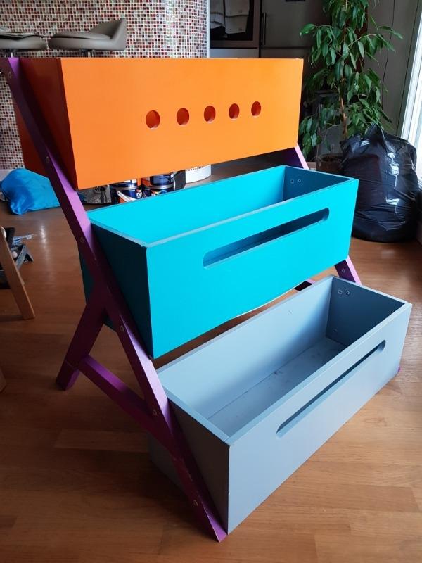 Recyclage, Récupe & Don d'objet : meuble de rangement 3 bacs