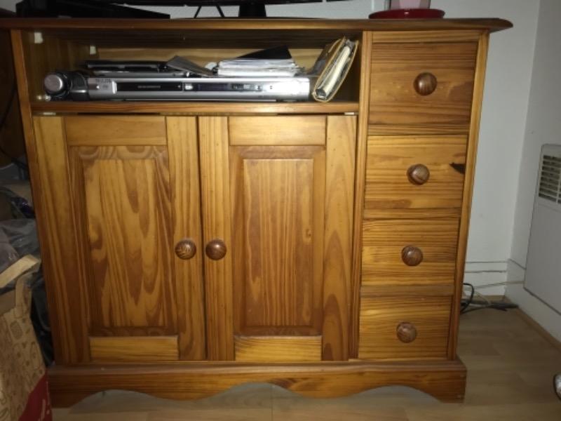 Recyclage, Récupe & Don d'objet : buffet + meuble tv