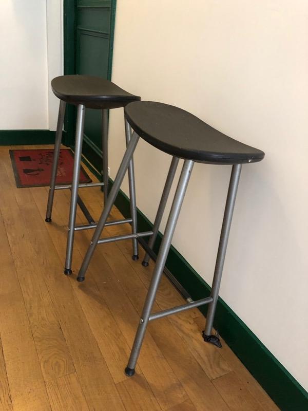 Recyclage, Récupe & Don d'objet : deux tabourets bar