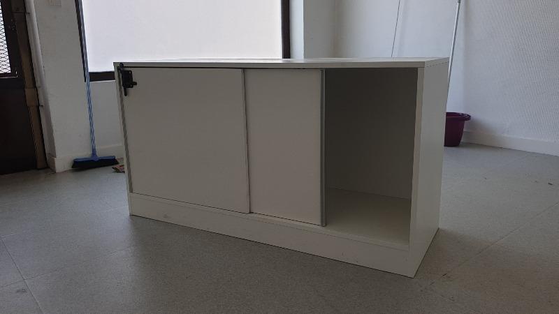 Recyclage, Récupe & Don d'objet : meuble bas de bureau