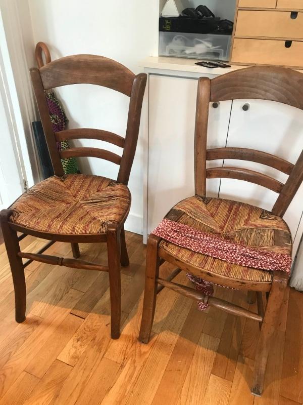 Recyclage, Récupe & Don d'objet : 2 chaises en bois anciennes