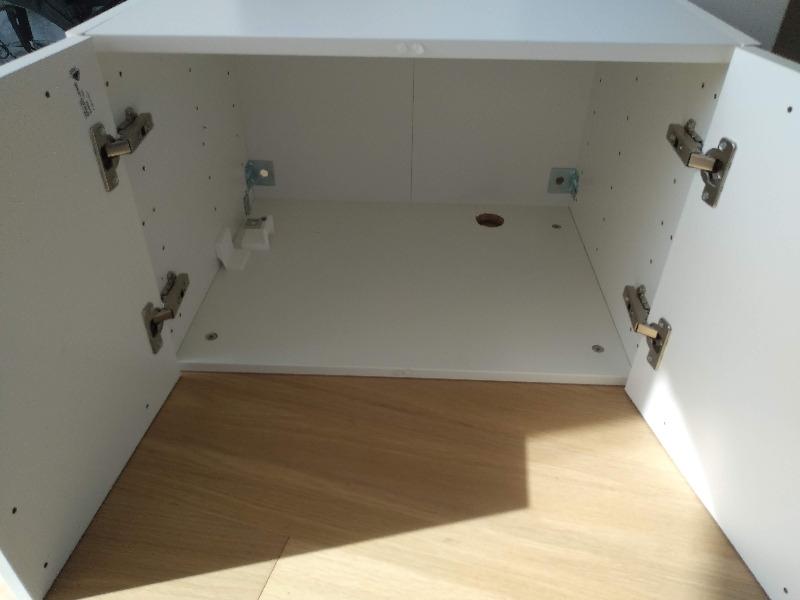 Recyclage, Récupe & Don d'objet : caisson blanc 60x40x45 2 portes