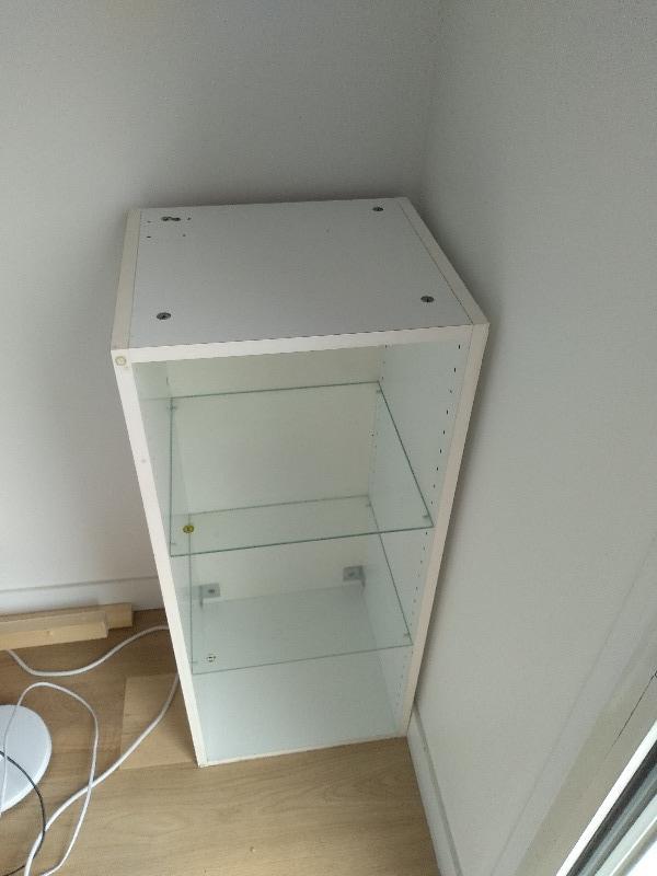 Recyclage, Récupe & Don d'objet : meuble blanc 40x92x36