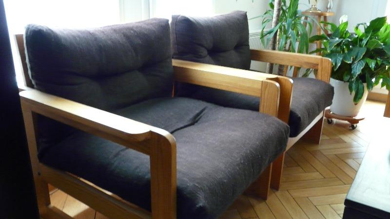 Recyclage, Récupe & Don d'objet : 2 fauteuils (chauffeuses)