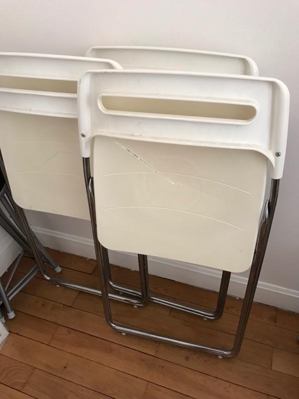 Recyclage, Récupe & Don d'objet : tabourets et chaises pliables