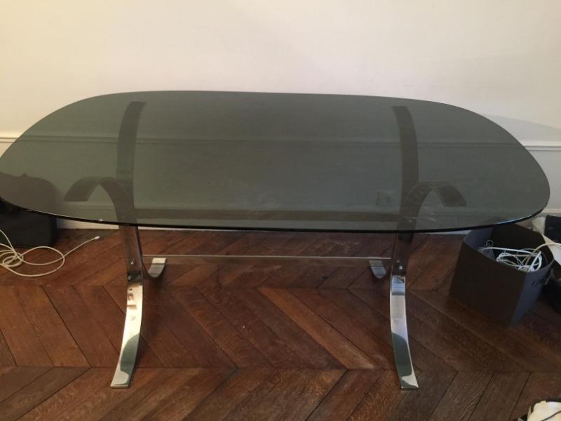 Recyclage, Récupe & Don d'objet : table en verre