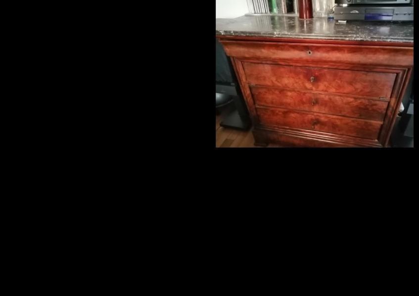 Recyclage, Récupe & Don d'objet : commode ancienne en acajou