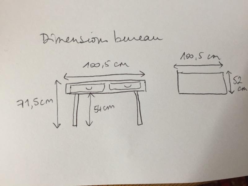 Recyclage, Récupe & Don d'objet : bureau en bois