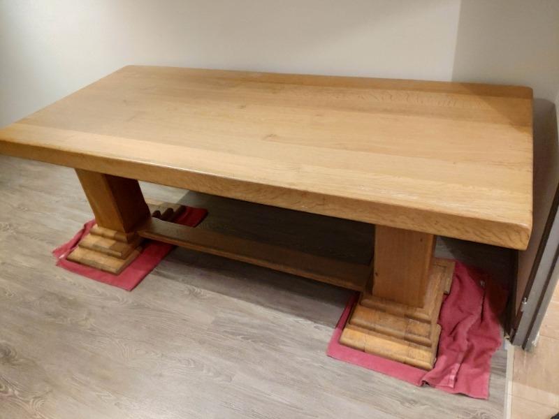 Recyclage, Récupe & Don d'objet : table en chêne massif