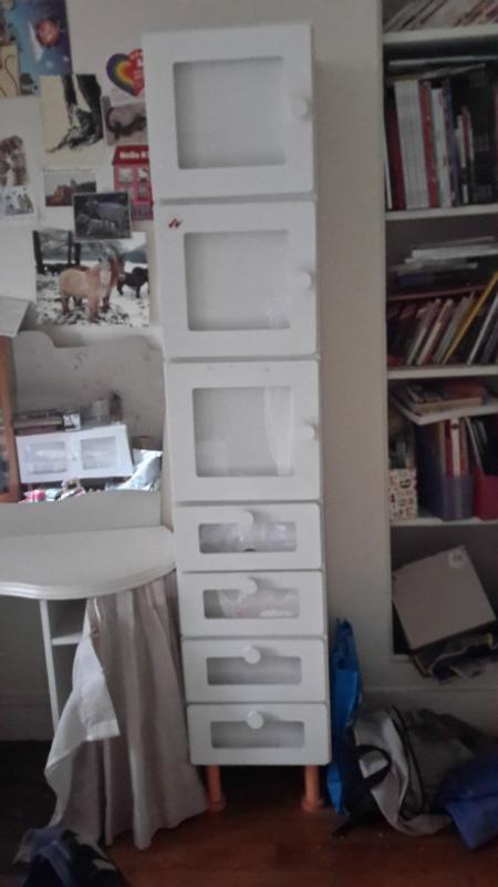 Recyclage, Récupe & Don d'objet : étagère enfant bois blanc