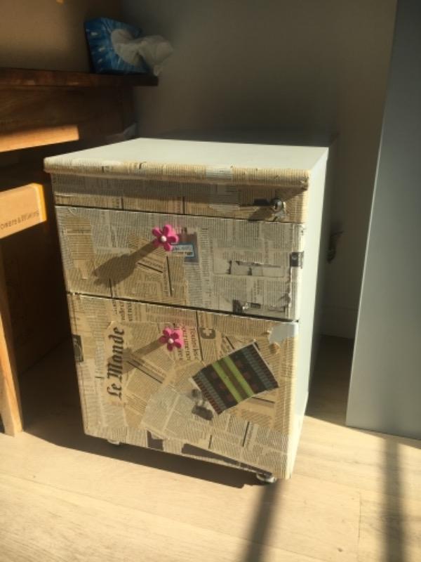 Recyclage, Récupe & Don d'objet : casier à tiroirs pour dossiers suspendus