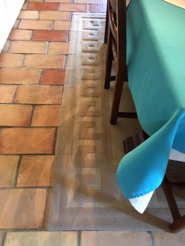 Recyclage, Récupe & Don d'objet : tapis beige