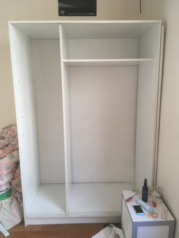 Recyclage, Récupe & Don d'objet : armoire ikéa blanche