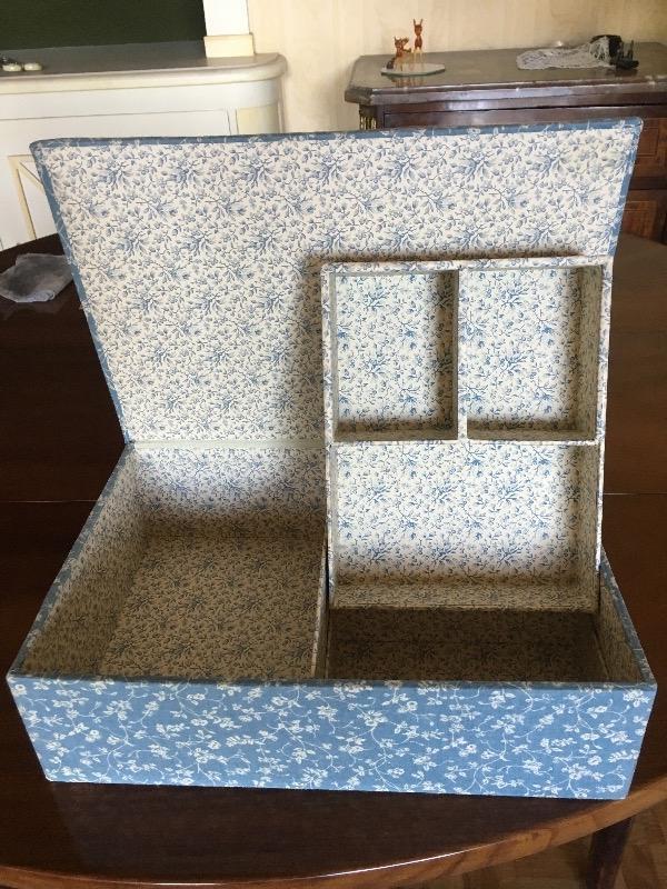 Recyclage, Récupe & Don d'objet : boite de rangement laura ashley