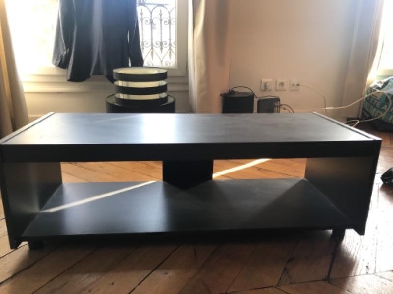 Recyclage, Récupe & Don d'objet : meuble tv noir