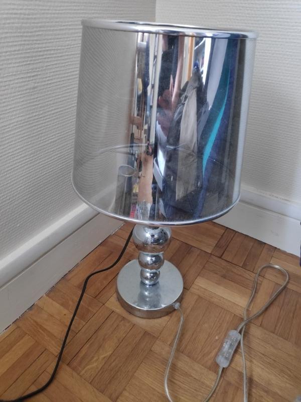 Recyclage, Récupe & Don d'objet : lampe grise