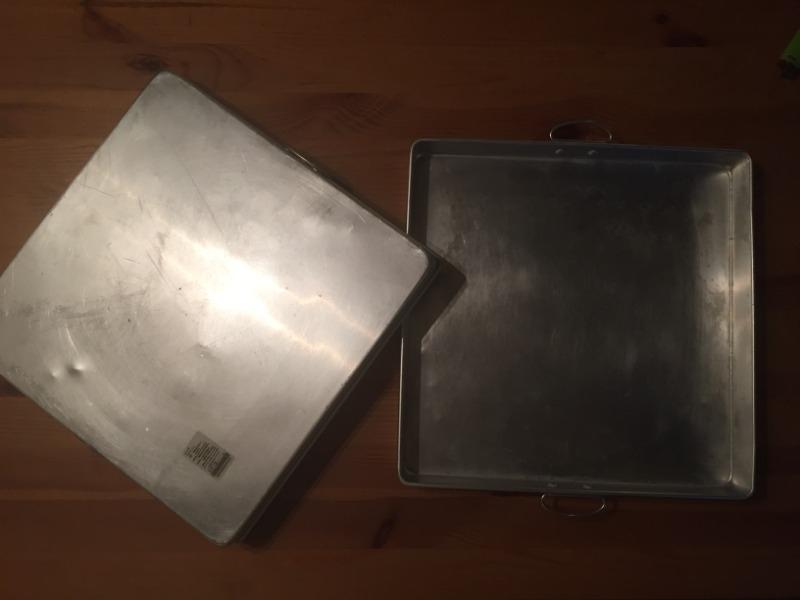 Recyclage, Récupe & Don d'objet : plateau métallique