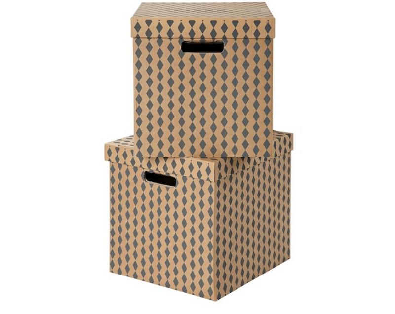 Recyclage, Récupe & Don d'objet : boîtes de rangement tryck ikéa