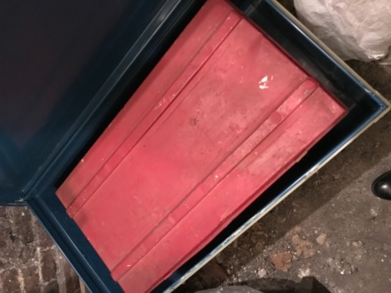 Recyclage, Récupe & Don d'objet : petite cantine métallique