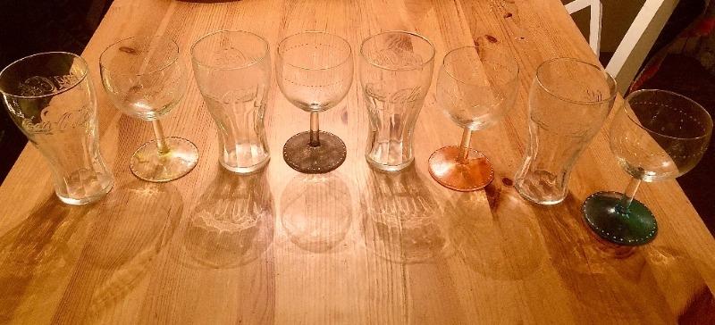 Recyclage, Récupe & Don d'objet : lot de 8 verres