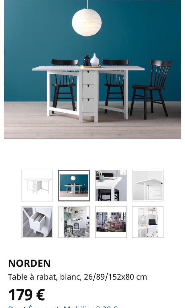 Recyclage, Récupe & Don d'objet : table qui se plie