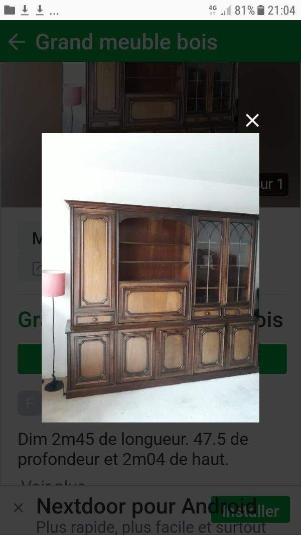 Recyclage, Récupe & Don d'objet : gros meuble bois