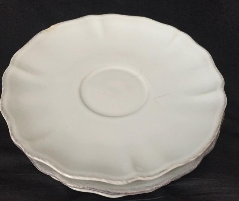 Recyclage, Récupe & Don d'objet : 6 petites assiettes 16,5 cm