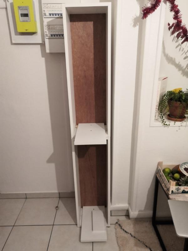 Recyclage, Récupe & Don d'objet : petite meuble bois blanc