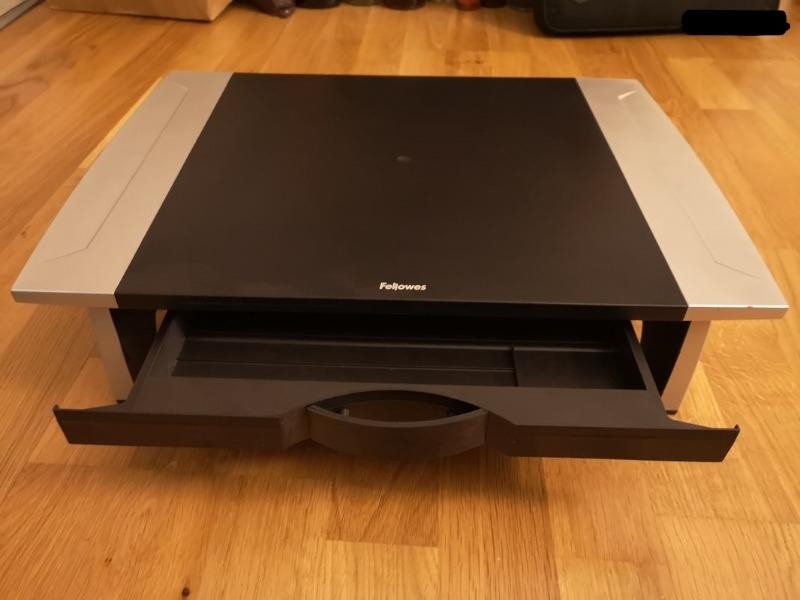 Recyclage, Récupe & Don d'objet : support d'écran ordinateur avec tiroir