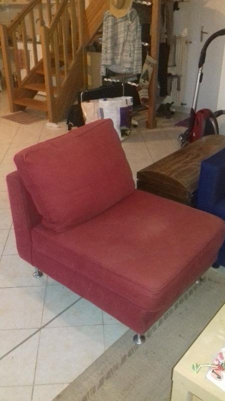 Recyclage, Récupe & Don d'objet : fauteuil rouge