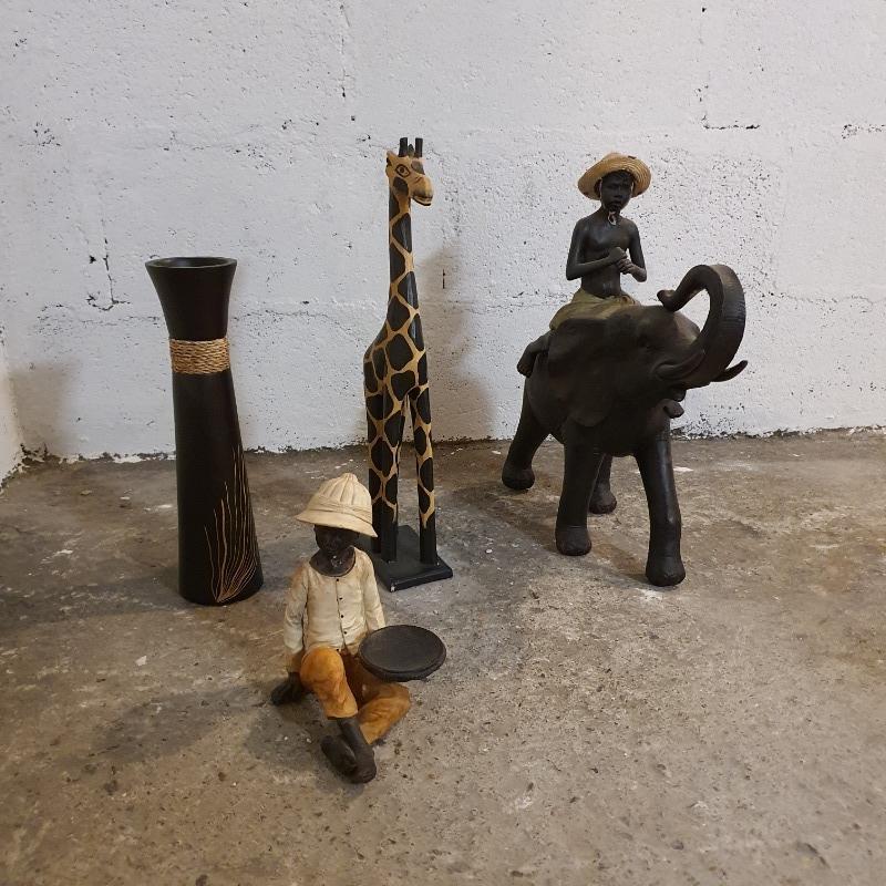 Recyclage, Récupe & Don d'objet : 4 figurines décoration africaine