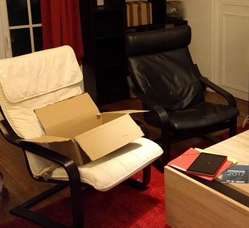 Recyclage, Récupe & Don d'objet : 2 fauteuils ikea avec 1 repose pieds