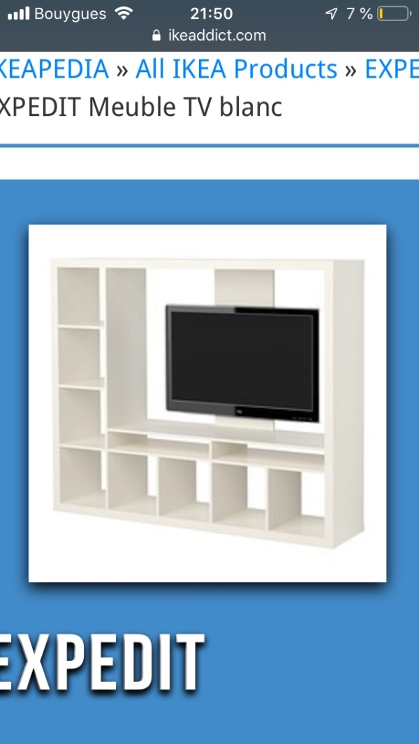 Recyclage, Récupe & Don d'objet : meuble tv expedit ikea