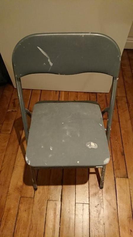Recyclage, Récupe & Don d'objet : chaise pliable