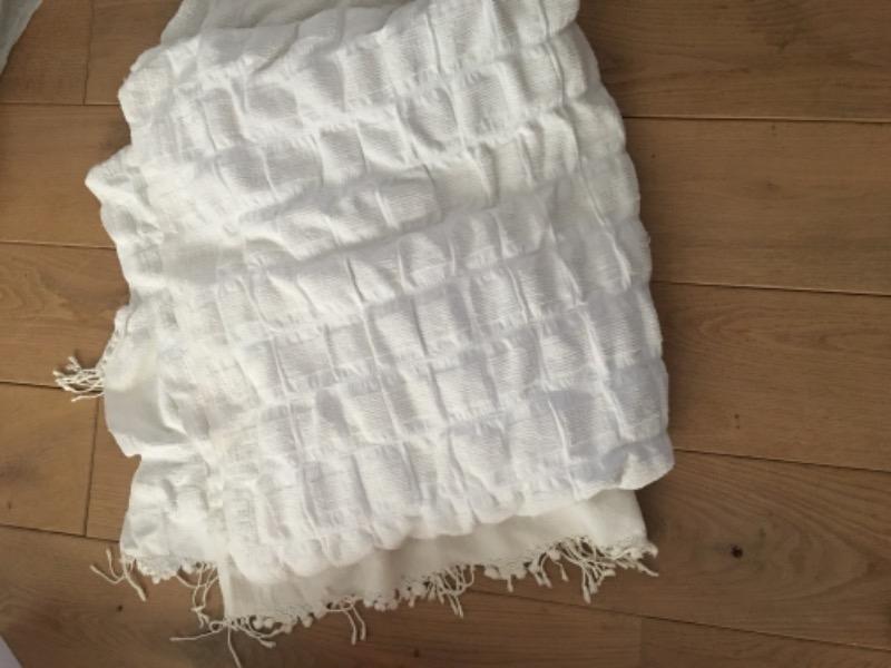 Recyclage, Récupe & Don d'objet : couvre lit en coton lit double