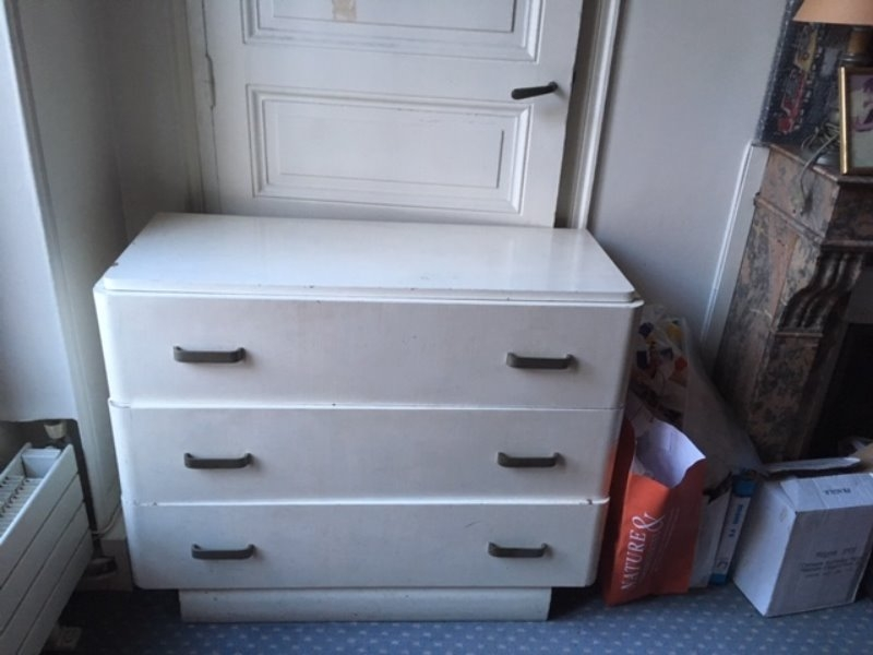 Recyclage, Récupe & Don d'objet : commode blanche