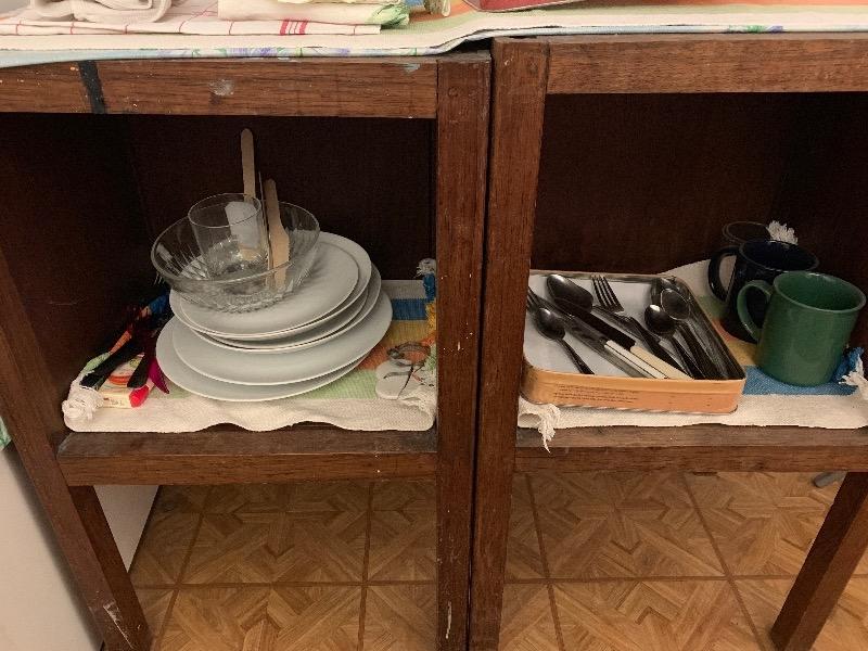 Recyclage, Récupe & Don d'objet : lot de verres et couverts
