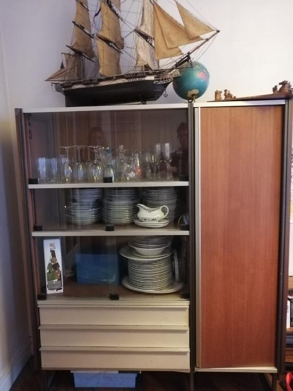 Recyclage, Récupe & Don d'objet : vaisselier / bibliothèque
