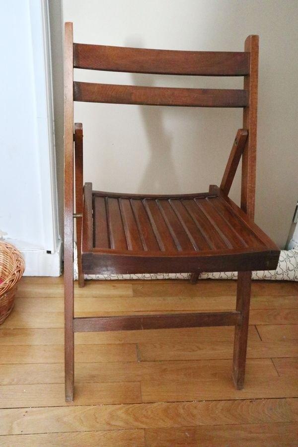 Recyclage, Récupe & Don d'objet : deux chaises pliantes en bois