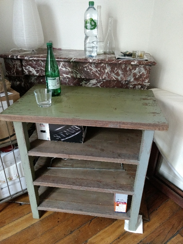 Recyclage, Récupe & Don d'objet : table desserte en bois